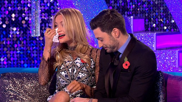 Breaking down: Laura Whitmore released her emotions during an appearance on It Takes Two on Sunday night