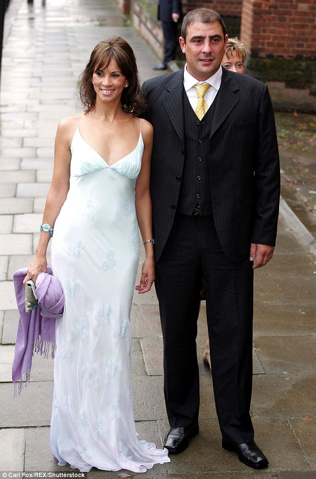 I do:The presenter exchanged vows with second husband Steve Toms in 2009 during a short break from hosting commitments with Loose Women