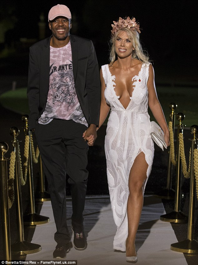 In the style: The blonde bombshell arrived in style with Vas Morgan
