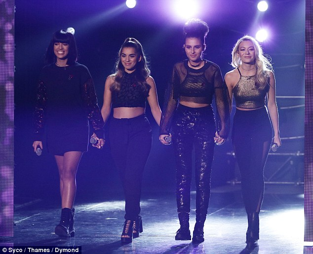 Bottom four: Girl group Four Of Diamonds have since defended the act they lost to, branding Saara's performance 'incredible'