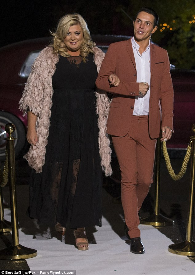 All joining in: Also present was Gemma Collins, who beamed in a black lace gown and pink fringed jacket, and close pal Bobby Norris