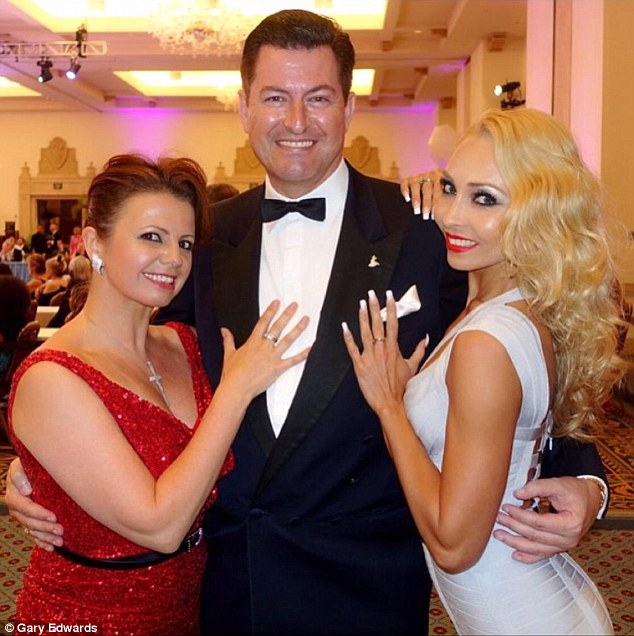 Gary Edwards, 50, is one of  the rumoured replacements for outgoing head judge Len Goodman. He's seen here with former Strictly professionals Karen Hardy and Iveta lukosiute