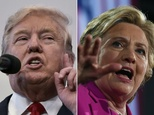 US White House rivals Donald Trump and Hillary Clinton �Mandel Ngan, Jewel Samad (AFP/File)
