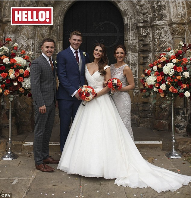 'I knew he was the one straight away': Former X Factor contestant Carolynne Good has married cricketer David Willey in a romantic ceremony