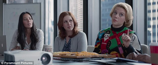Strong cast: The film also features (Left to right) Olivia Munn, Vanessa Bayer andKate McKinnon