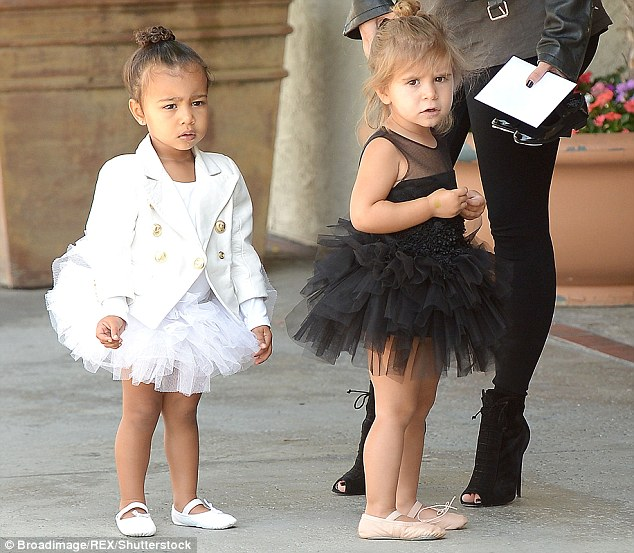 Next generation:Penelope and North, who is the daughter of sister Kim Kardashian and husband Kanye West, have become the best of friends after being born just one year apart