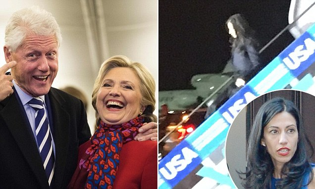 Huma Abedin spotted on campaign plane days after the FBI clears Hillary Clinton