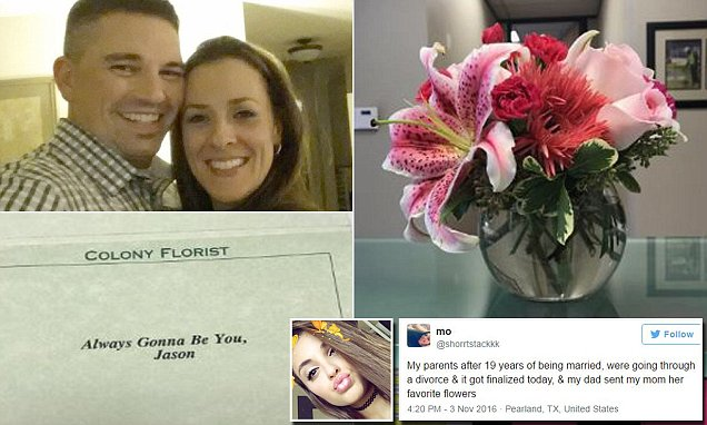 Morgan Lynn from Texas took to Twitter to reveal her dad sent her mom flowers after