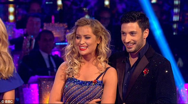 Strictly emotional: On Saturday night's episode, Laura allowed the audience to see a softer side of her as she struggled to fight back tears after an awkward timing issue during her samba