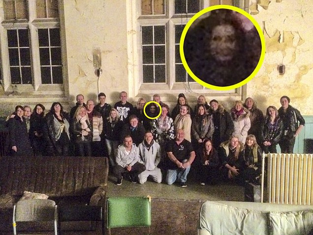 Zombie-like ghost photobombs visitor tour at Newsham Park Hospital in Liverpool