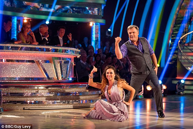 Gimme more: His blundering dance moves have been described by the judges as entertaining