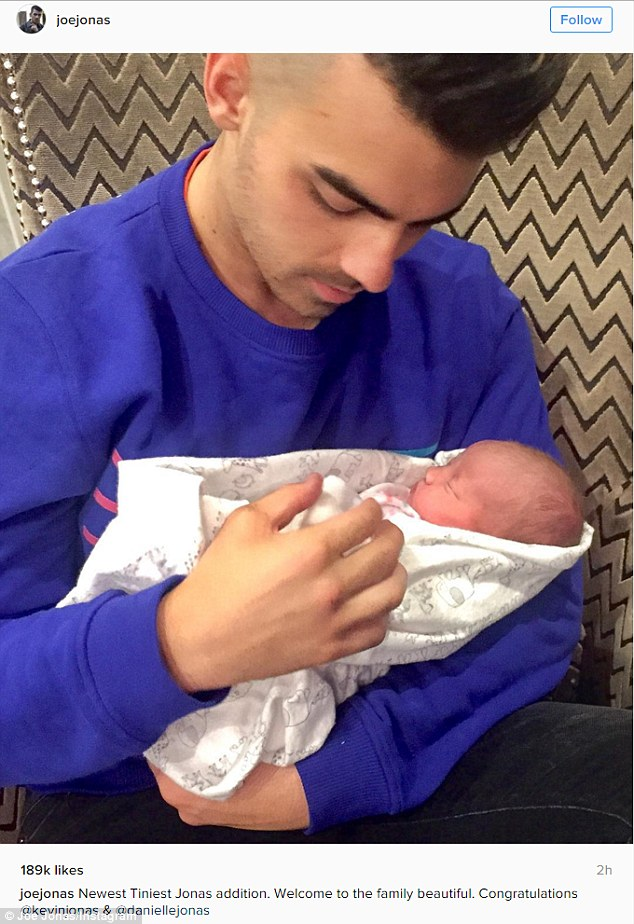 An uncle again: Last week his brother Kevin welcomed another child with wife Danielle