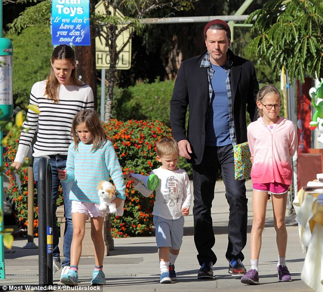 The family: Samuel is Ben's youngest child with his estranged wife Jennifer Garner; the film star's also have two daughters: Violet, 10, and seven-year-old Seraphina