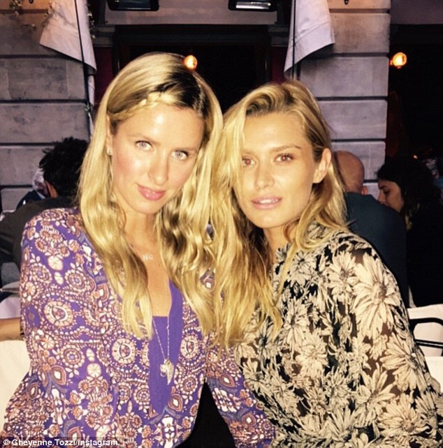 Family ties: Cheyenne is also close pals with Paris' sister Nicky Hilton Rothschild (left), 33