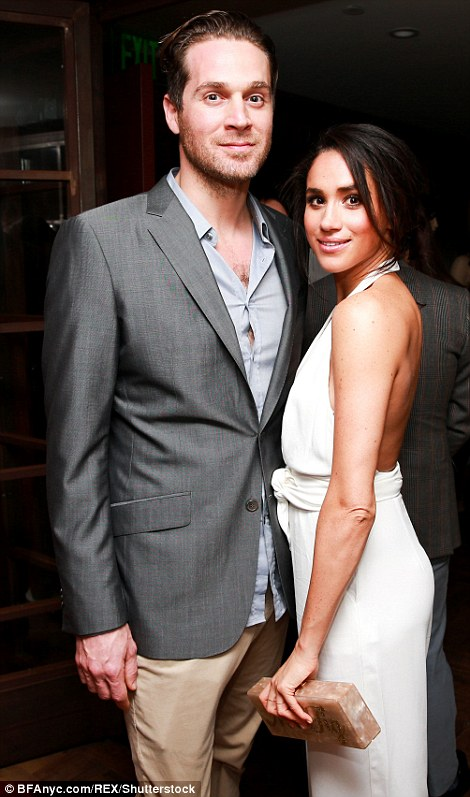 It has emerged that Meghan may have still been with her ex-boyfriend of two years, Canadian chef Cory Vitiello (pictured) when she first met Harry and he began pursuing her