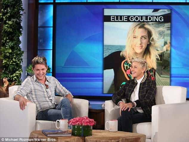 Ooer: Niall revealed her still holds a candle for his ex-girlfriend Ellie during an appearance on The Ellen DeGeneres Show on Wednesday