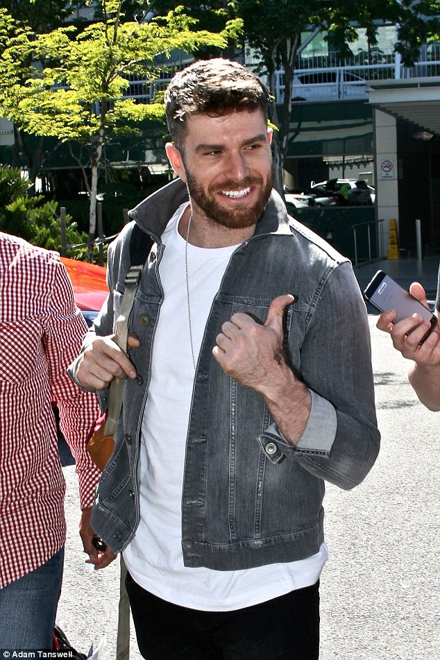 He's arrived! Sam's appearance came just hours after comedian Joel Dommett jetted into the Queensland capital