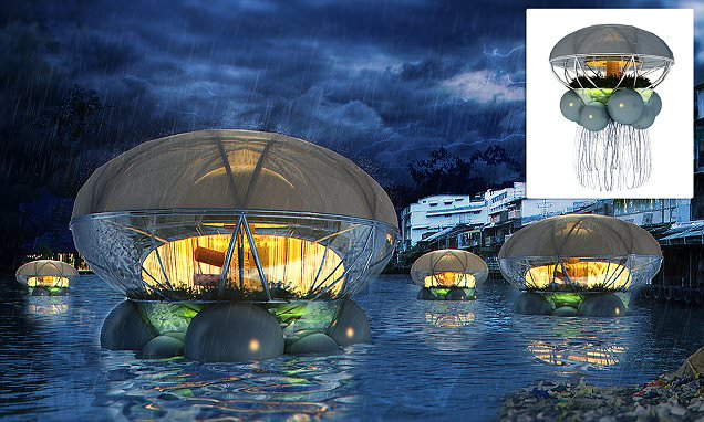 Why the hotel of the future could be an eco-pod robot 'jellyfish' with 'tentacles' that