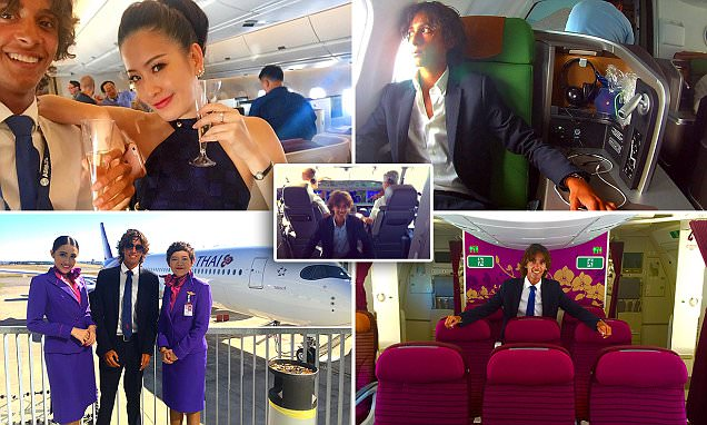 Meet the man who travels the world on delivery flights of new planes drinking champagne