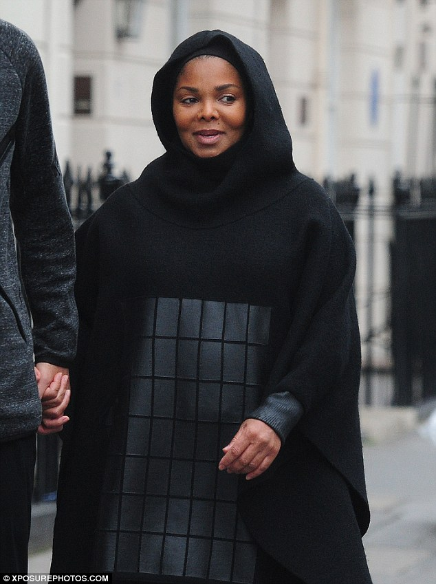 Youthful beauty: Janet was showing off the fabled glow associated with new mothers