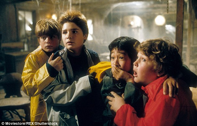 Nostalgia: It's no coincidence that the Duffers selected the 45-year-old Oscar nominee, who played Goonies leader Mikey Walsh (L) in Richard Donner's 1985 treasure hunt classic