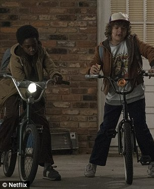 Souping up their bikes?Perhaps Bob will provide low-fi technology to the eighties gang of precocious tweens