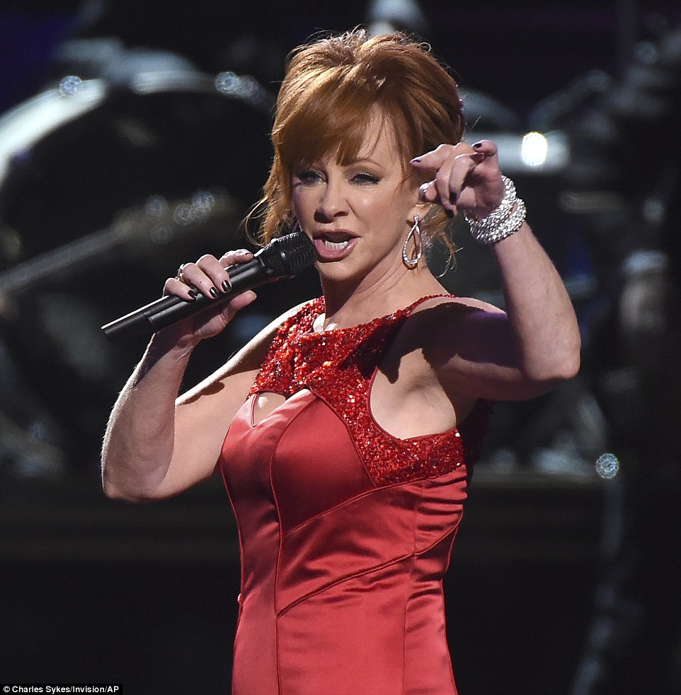 A-lister: Reba McEntire was also a featured act in the medley