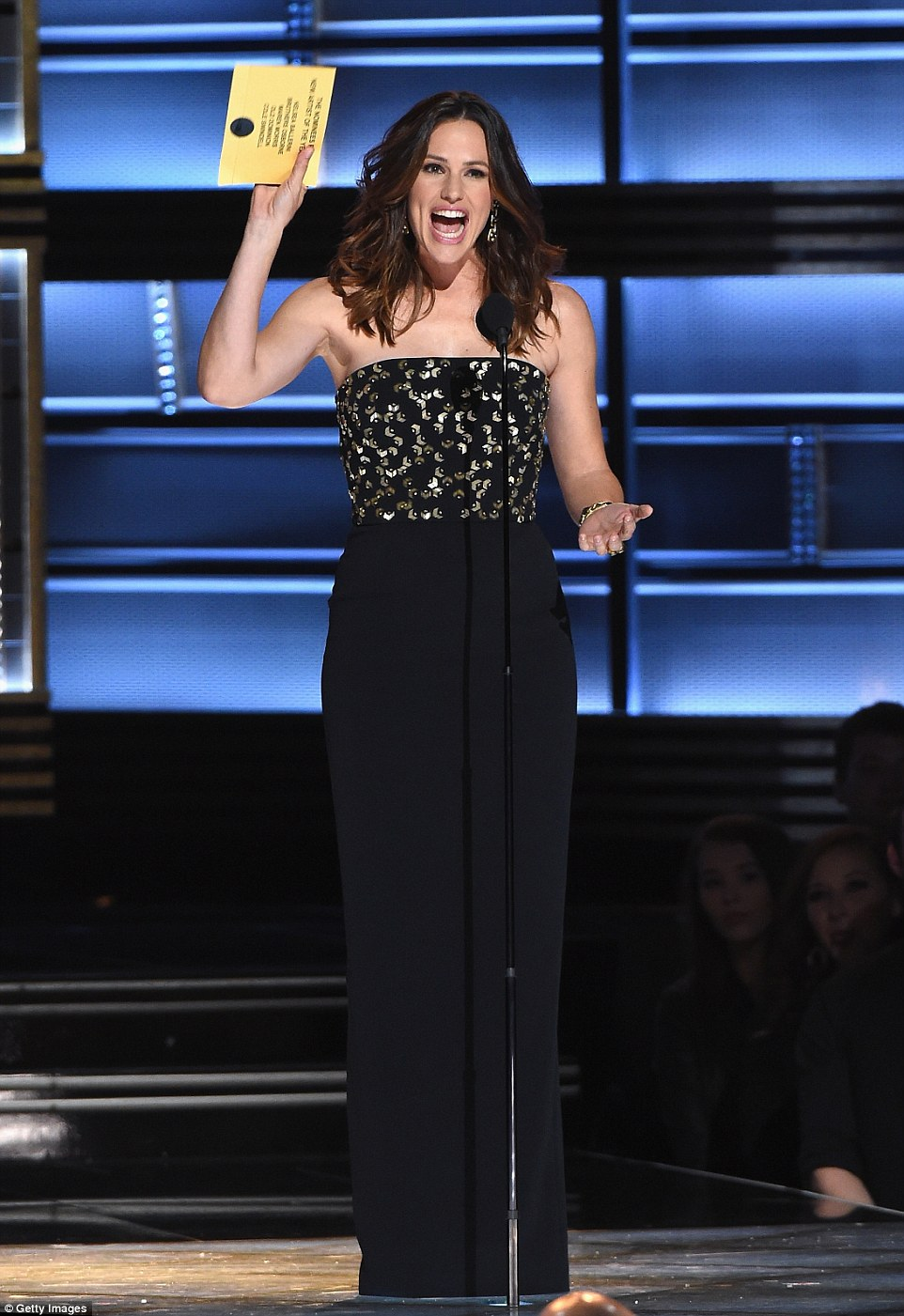 Pretty: Jennifer Garner was one of the stars presenting for the occasion as she did Best New Artist of the Year