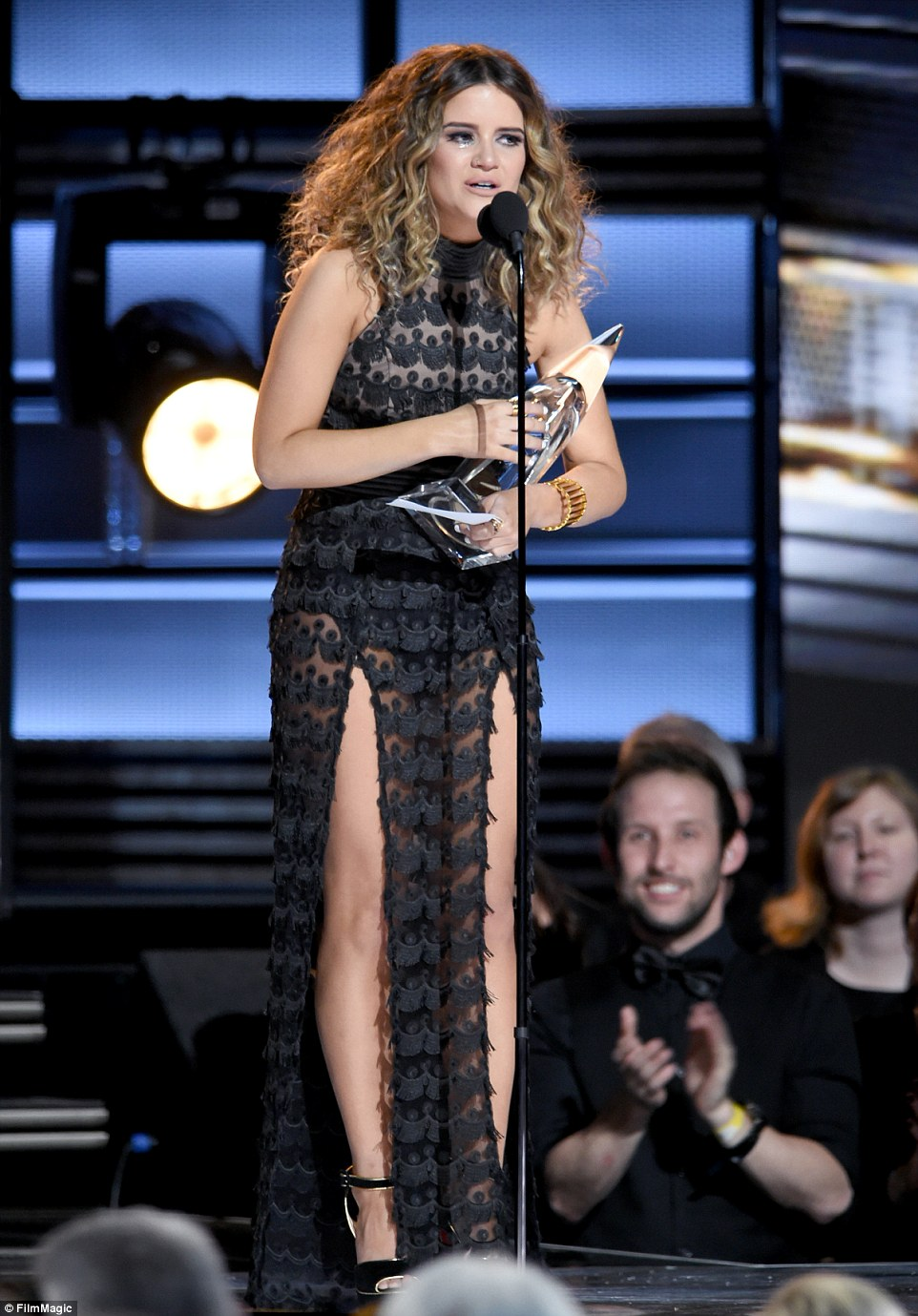 Milestone moment: Maren Morris was overcome with emotion as she took home the Best New Artist of the Year prize
