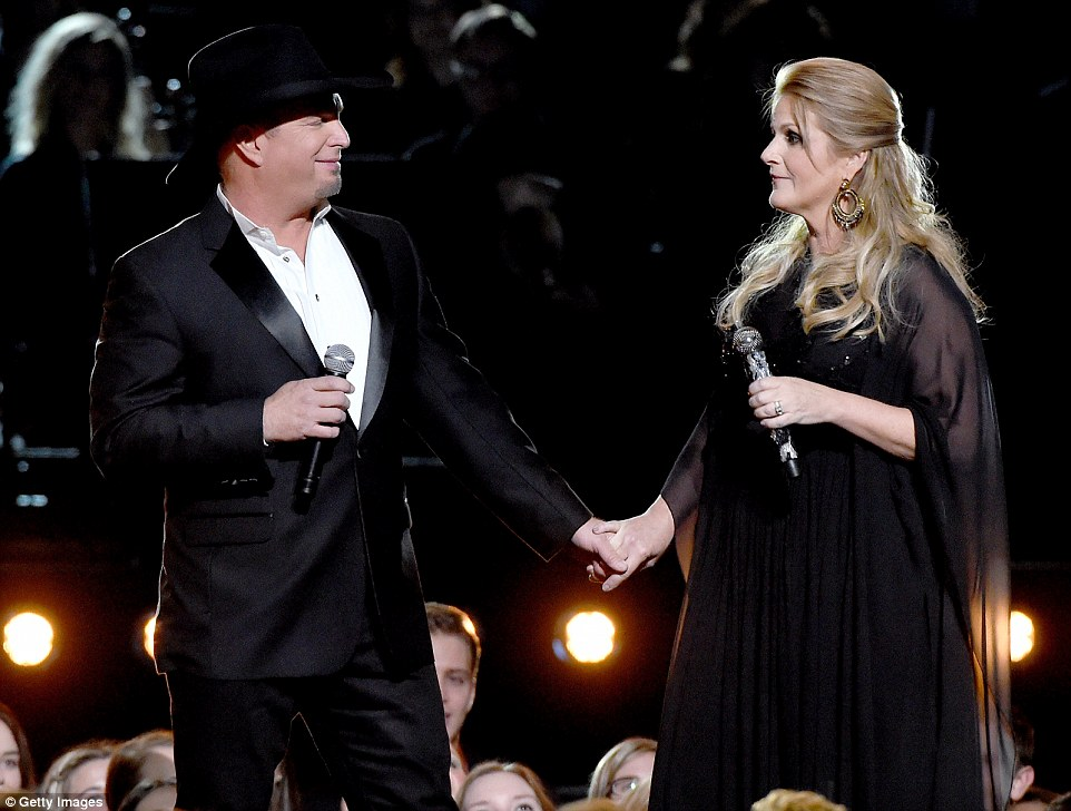 Hand-in-hand: They did a medley of classic country songs