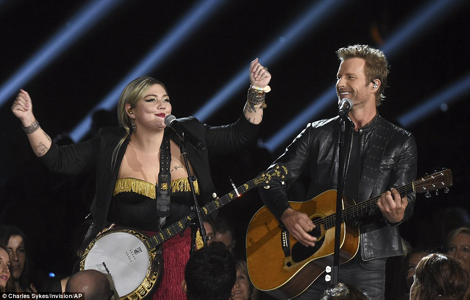 Just the two of us: Elle King and Dierks Bentley did their track Different For Girls track together