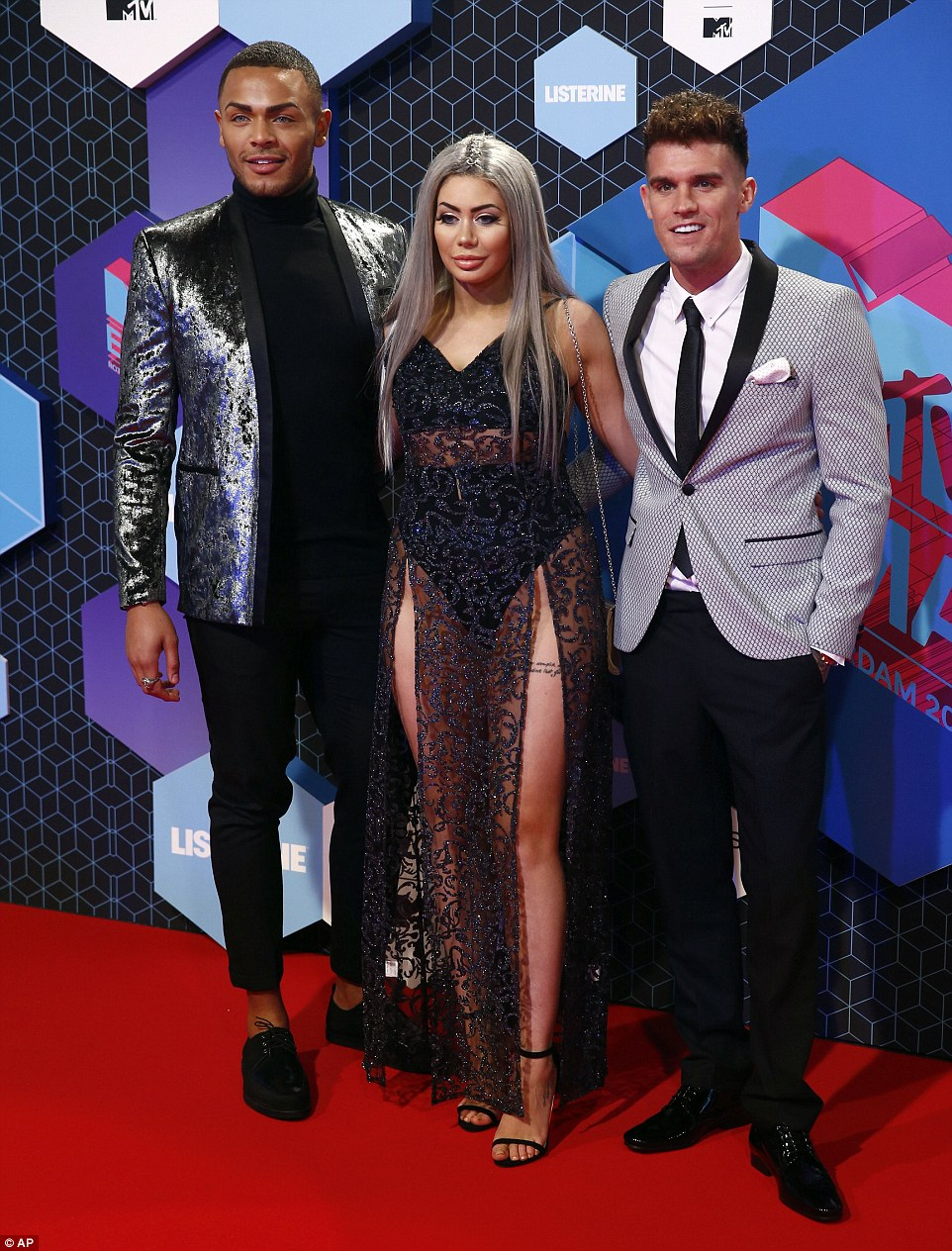 Geordie Shore take Rotterdam! Nathan Henry, Chloe and Gary all posed on the carpet together