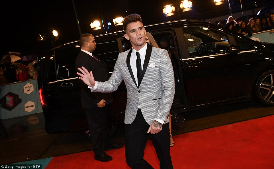 Arriving in a stretch: Gary Beadle sported a grey suit and black trousers as he arrived in style