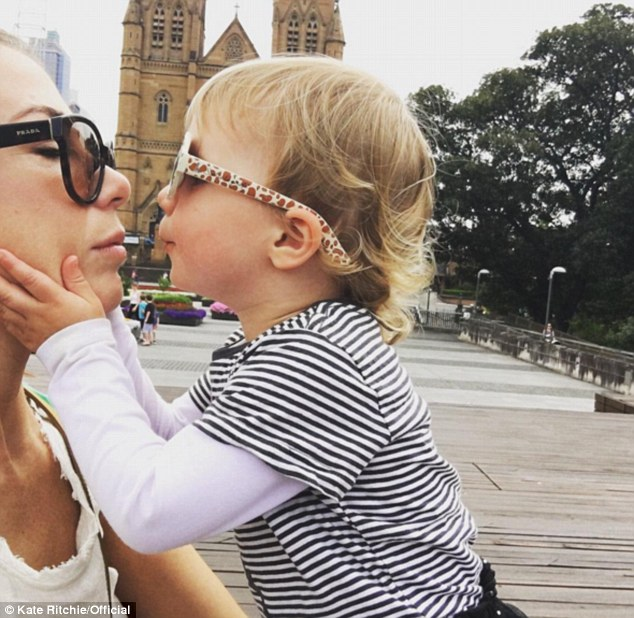 Learning from the best! Kate and Mae are seen enjoying adorable mother daughter time in similarly oversized sunglasses