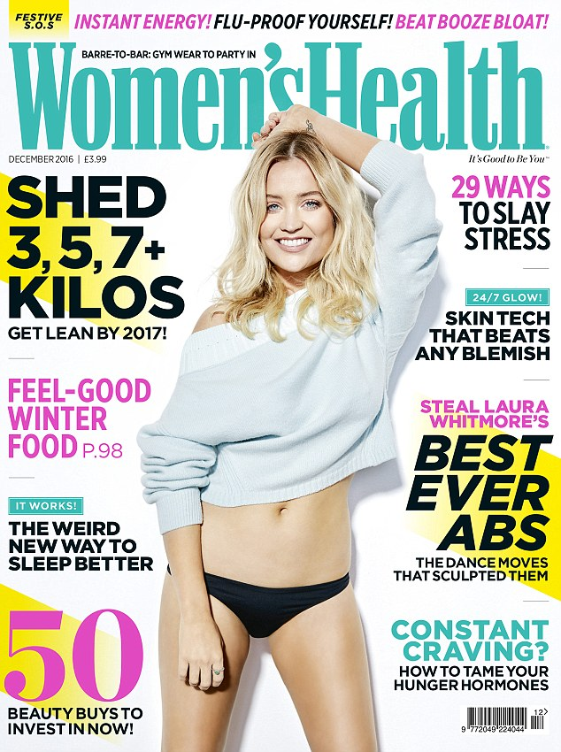 Read the full interview with Laura Whitmore and get her exclusive workout in the December 2016 issue of Women's Health – on sale Wednesday 9 November
