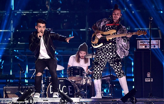In it for the win: Joe Jonas and his band DNCE won for Best Push Act