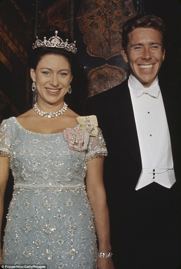 Princess Margaret at an official royal engagement in 1966 with her husband Lord Snowdon