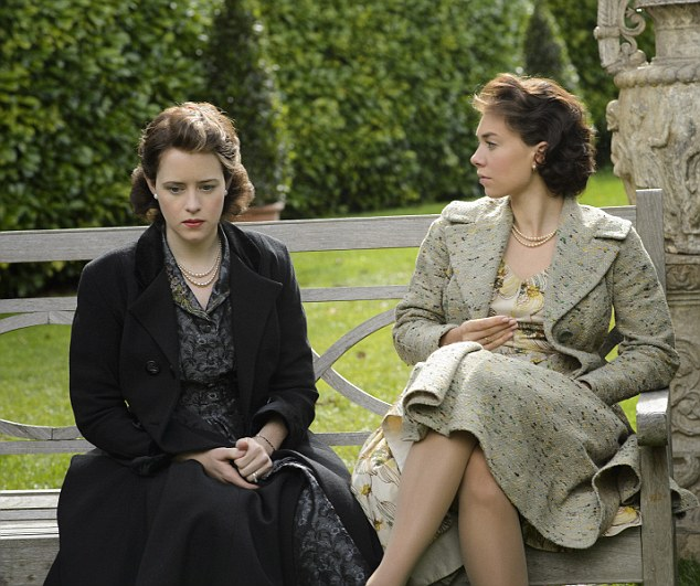 Sisterly bond: Vanessa Kirby (right) as Princess Margaret and Claire Foy as a young Queen Elizabeth in The Crown
