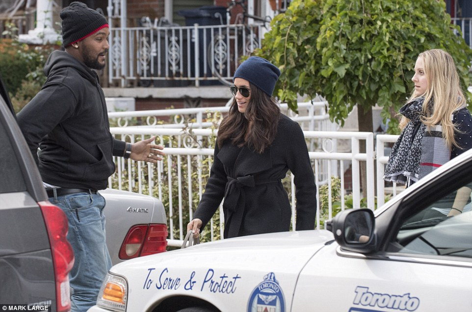 In the public eye: Harry's new girlfriend Miss Markle leaves her home in Toronto, Canada, last Thursday