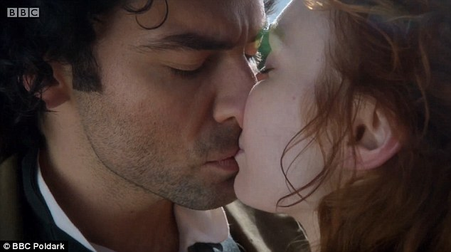 Last kiss: Fans rejoiced as Ross and Demelza reconciled in the season finale of Poldark on Sunday night