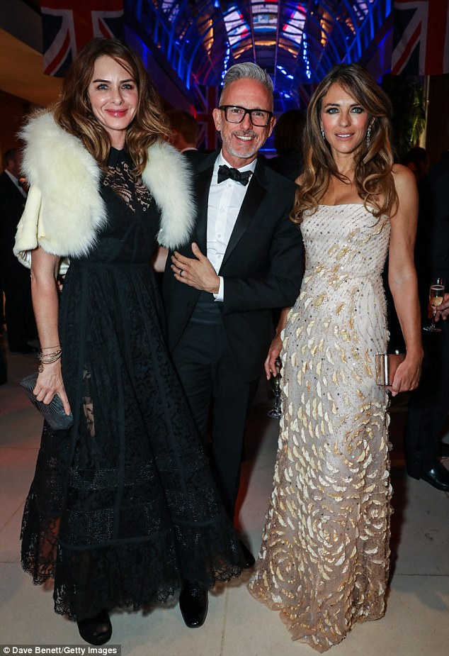 Style squad: They were joined at the event by fashion and make-over advisor Trinny Woodall