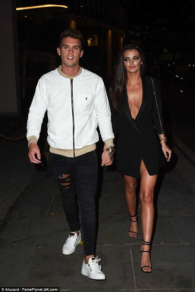 Loved-up:Without starring on the show, the star will also have more time to spend with his current girlfriend, Emma McVey who he recently admitted he'd happily settle down with