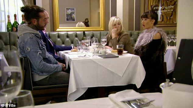 Distraught: Megan was left sobbing after Pete stormed off during his lunch with her parents