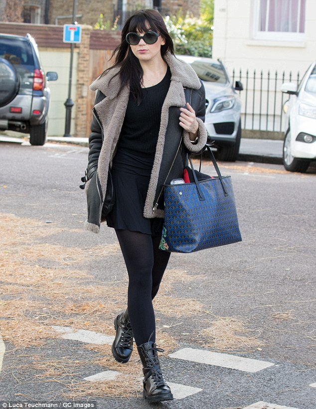 Single girl: Daisy was stepping out after ending her short-lived romance with boyfriend Frankie