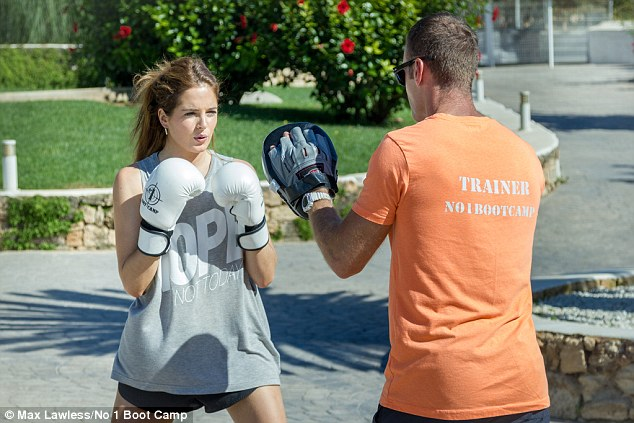 Knockout!The reality star has spoken publicly of her love for the No. 1 Boot Camp, which runs camps in the UK, Ibiza and Marrakech, and counts fellow Made In Chelsea star Spencer Matthews among its clients