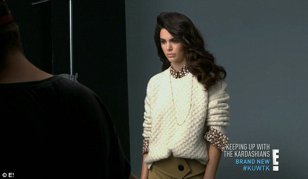 Top model: The show featured a clip of Kendall at work