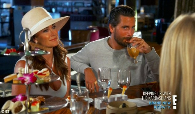 Reality star: Kyle Richards joined Kris for tea