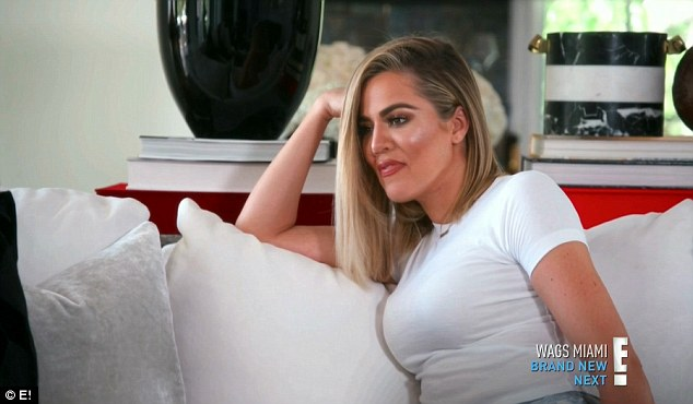 Hanging out: Khloe spent some time with Scott also