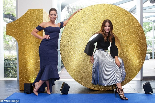 Stars of the night: Jodi Anasta and Olympia Valance stole the show at the Network Ten Upfront party in Melbourne on Monday night