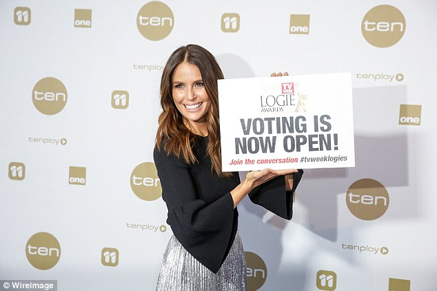 Voting open! Jodi encouraged fans to vote for the upcoming annual Logie Awards